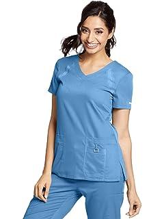 Grey/'s Anatomy Active Women/'s 41423 4 Pocket Knit Side Panel Scrub Top