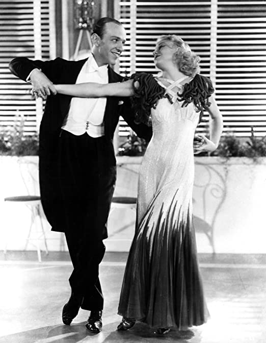 Art print POSTER CANVAS Ginger Rogers and Fred Astaire Dancing