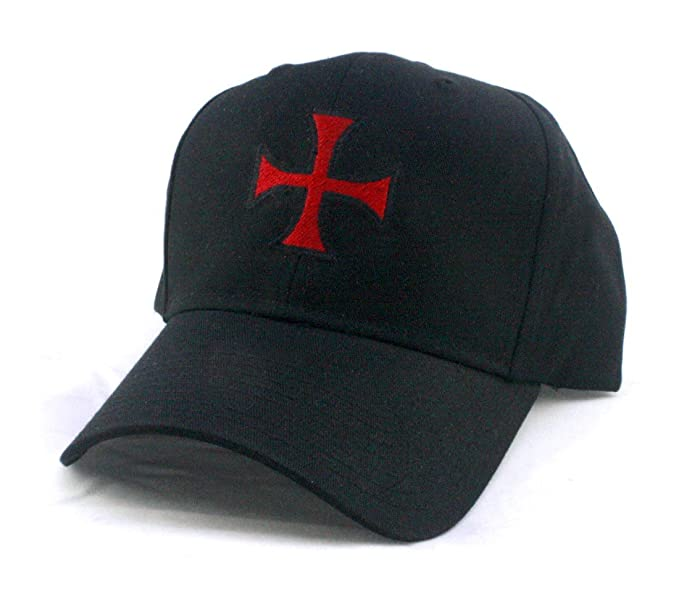 1c92fb2cdd3fb Amazon.com  Templar Cross - Knights Christian Jesus Christ GOD -  Embroidered Unisex Twill Pro Style Baseball Cap Hat