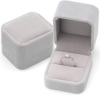 REYOK 2 Pack Conjunto Joyero - Joyeros - Terciopelo Caja de la joyería Caja de Regalo Set, Caja de Anillo de ...