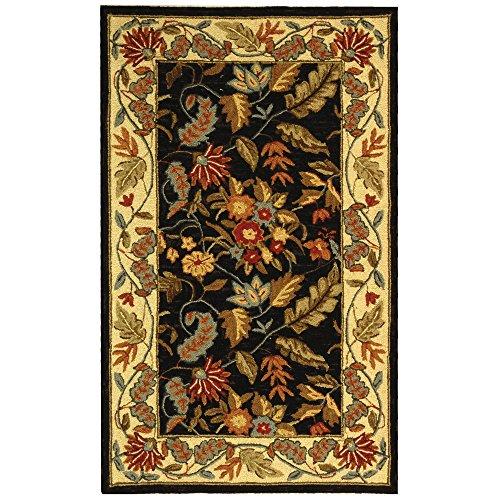 - Safavieh Chelsea Collection HK141B Hand-Hooked Black Premium Wool Area Rug (2'9