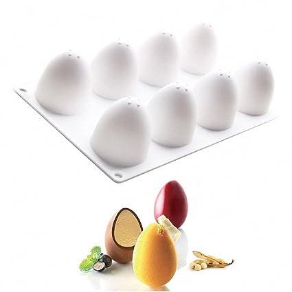 Amazoncom 3d Easter Egg Baking Mold Moldfun Easter Egg Silicone