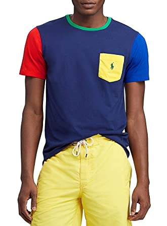Polo Ralph Lauren Camiseta Pocket Colorblock XXL: Amazon.es: Ropa ...