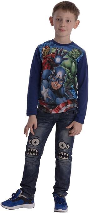 Avengers Assemble Jungen Langarmshirt in 3 Varianten und 4 Gr/ö/ßen