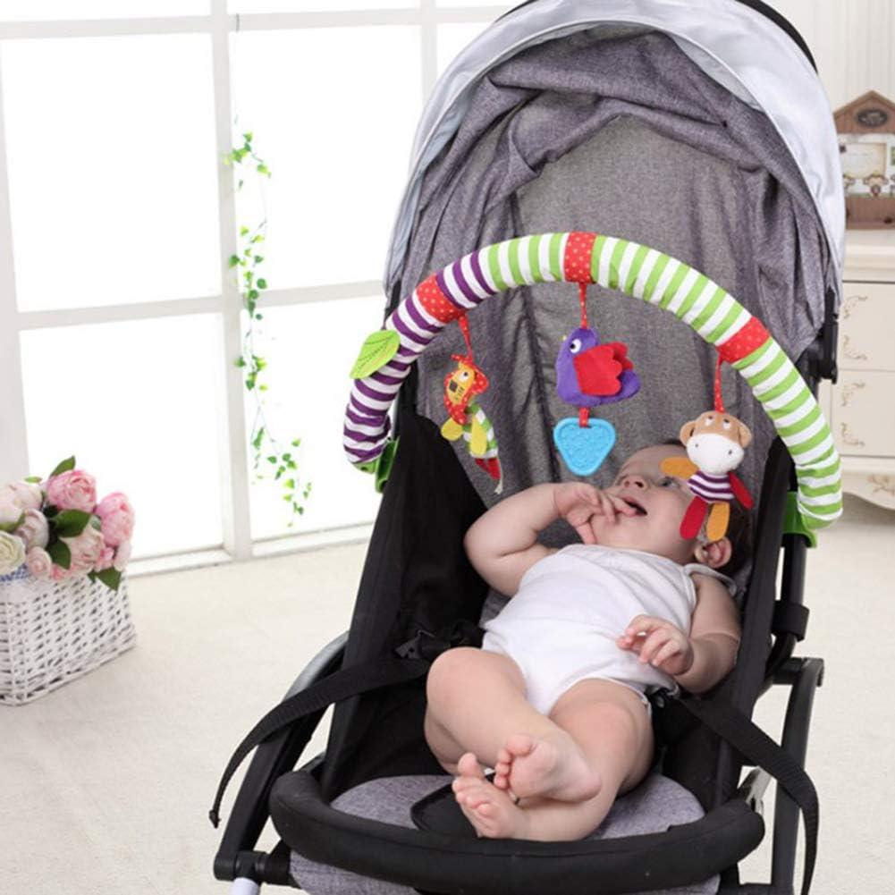 AimdonR Baby Reise Spielbogen Babybett h/ängen pl/üschtier f/ür Wiege Kinderwagen Cartoon Bett Glocke Baby pl/üschtier anh/änger