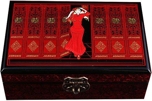 YDJGY Caja Joyero Caja de joyería, Cerradura Caoba China joyería ...