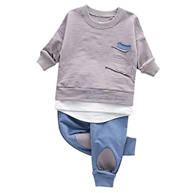 680aeba811d07 Image Unavailable. Image not available for. Color: New Children Clothing Set  Baby's Sets Children's Kids Autumn Boy Outfit Sports Suit ...