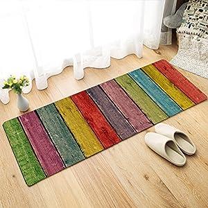 Status 3D Printed Runner Carpet Rug Anti Skid Backing for Home/Kitchen/Living Area/Office Entrance (57 X 37 cm, Multi…