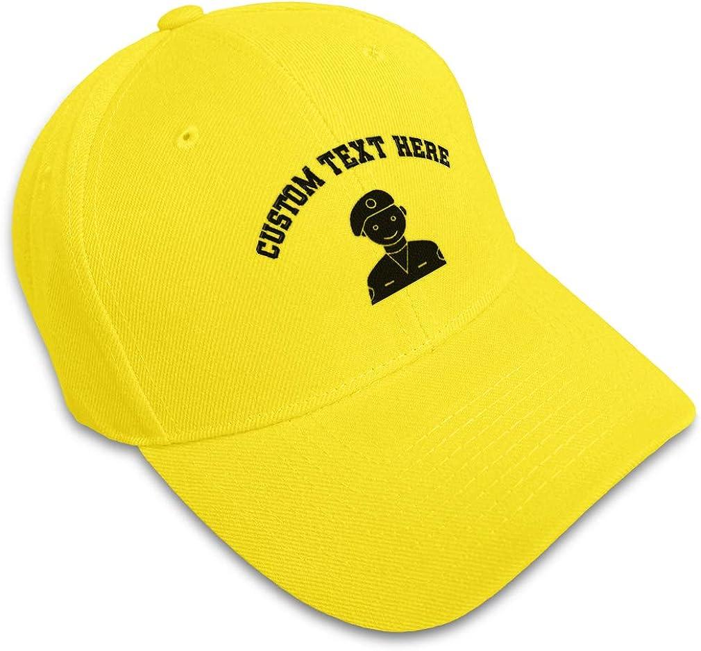Custom Baseball Cap Security Man D Embroidery Acrylic Dad Hats for Men /& Women