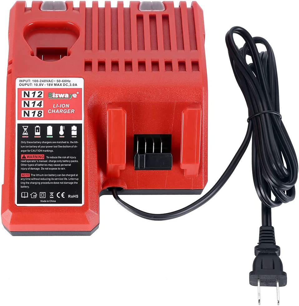 BRAND NEW MILWAUKEE M12 M18 MULTI VOLTAGE BATTERY CHARGER MODEL 48-59-1812
