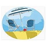 Beach Chairs Umbrella Ball Needlepoint Kit