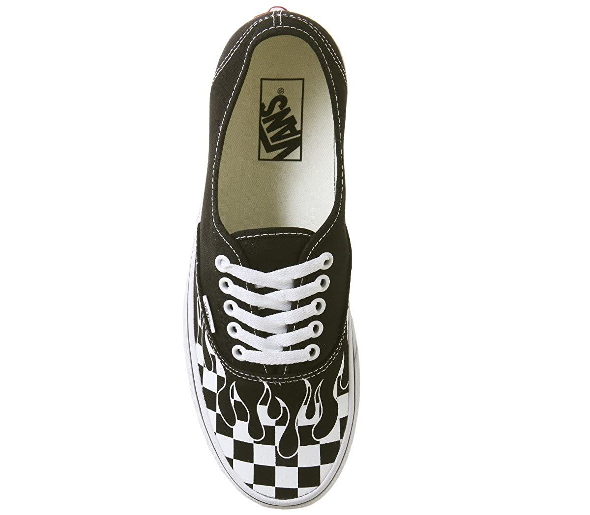 Vans Checker AUTHENTIC, Unisex Erwachsene Sneakers Checker Vans Flame schwarz true Weiß 45071f