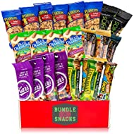 Variety Snacks Care Pack | Healthy Salty/Savory & Sweet Mix of Assorted Packaged Nuts, Peanuts, Almonds, Trail Mixes, Bars & More For Breakfast, College, Work, Fitness & More (Nuts n Healthy Snack)
