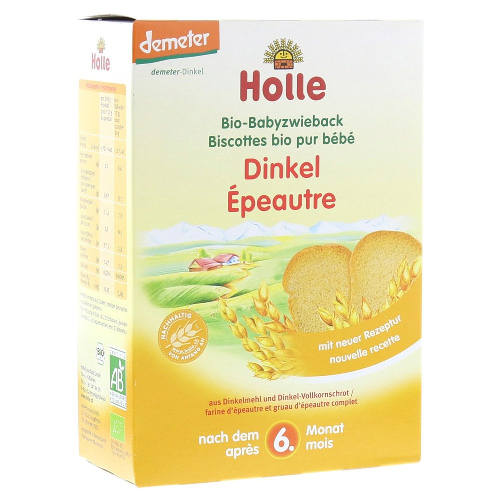 Holle Organic Snacks - Spelt Baby Rusks - Single Pack, 200g 111201