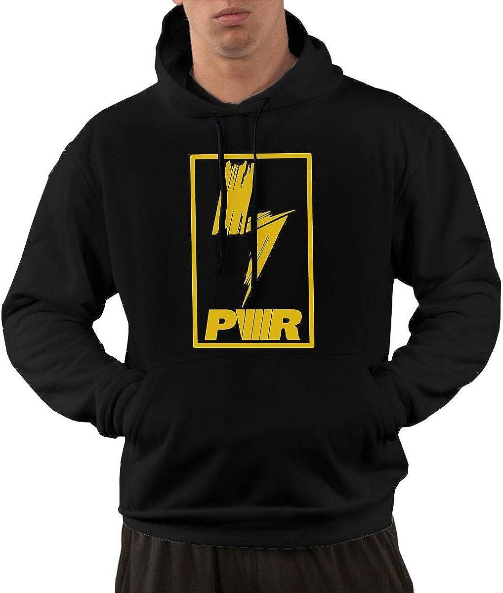 THORP.JENELLE Mens Fashion La-chlan Power Bold Logo Top Sweater Hoodie