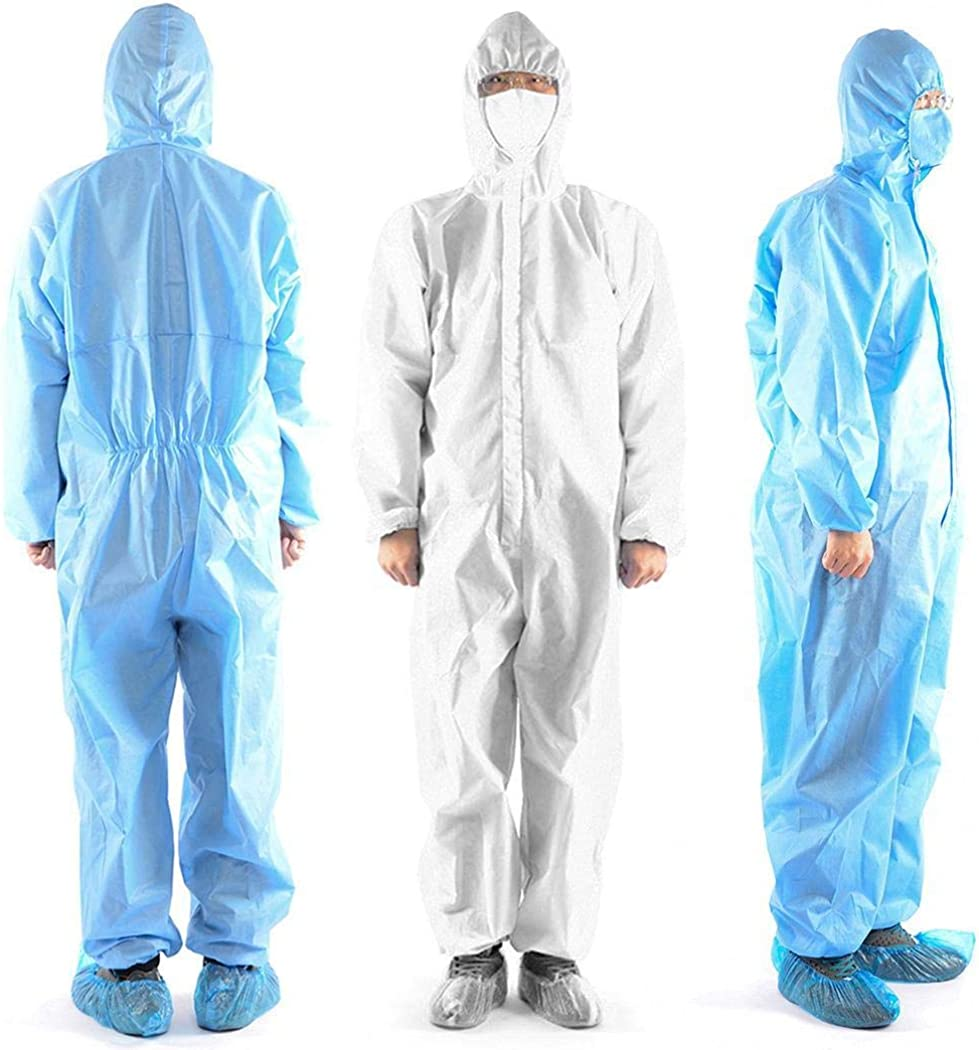 gonikm One-Piece Isolation Suit Lab Research Dust Free Clean Clothes Work Clothes Casual Jackets