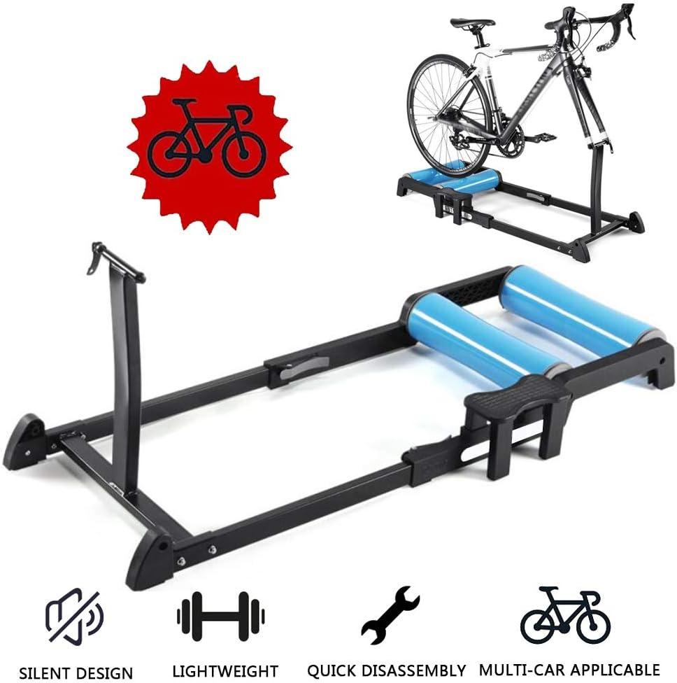 Blue Black Indoor Silent Roller Trainer Cycling MTB Road Bike Rollers Trainer US