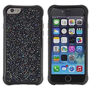 "All-Round Hybrid Rubber Case Hard Cover Protective Accessory Compatible with Apple iPhone 6PLUS ¡ê¡§5.5"") - black wonder scatter stars paint"