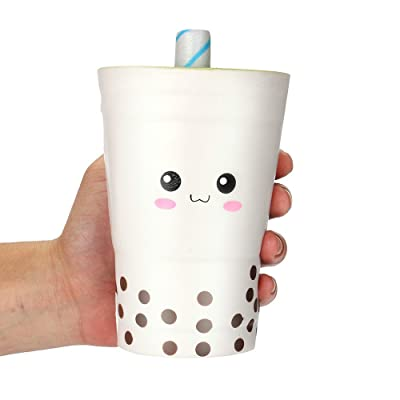 Bokeley Happy Easter Jumbo Squishy Cute Milk Cups Kawaii Cream Scented Squishies Slow Rising Decompression Squeeze Kids Toys (White): Home & Kitchen