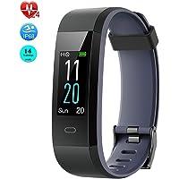Virtoba Montre Connectée, Montre Podomètre Cardiofréquencemètre Bracelet Connecté Tracker d'Activité Fitness avec 14 Mode de Sport Smartwatch Etanche IP68 pour Android iOS Samsung Xiaomi Huawei