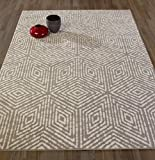 Diagona Designs Contemporary Geometric Cubes Design Modern 8' X 10' Area Rug, 94'' W x 118'' L, Gray/Ivory (JAS2193)