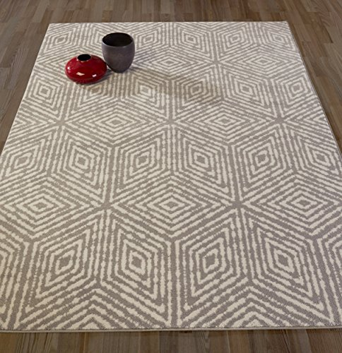 Geometric Modern Area Contemporary Rug (Diagona Designs Contemporary Geometric Cubes Design Modern 8' X 10' Area Rug, 94