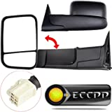 ECCPP Mirrors Power Heated Towing Side View Left Right Passenger & Driver Side Pair for 1998-2001 Dodge Ram 1500 2500 3500 Truck