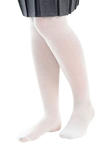 Girls 1-3 years Country Kids Ivory Silver Stripe Cotton Winter Tights