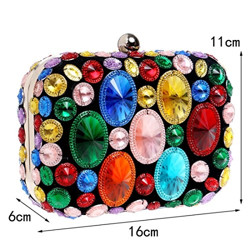 European Banchetto Evening and Bag Colorato Bag Diamond Colore Fly Dress Clutch Oro Dinner American Donna Sera Bd0Bxq