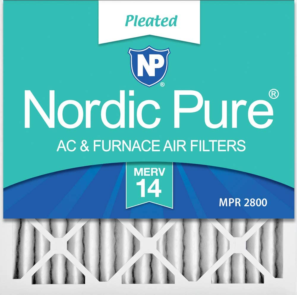 Nordic Pure 18x24x2 MERV 13 Pleated AC Furnace Air Filters 2-Inch 3 Pack