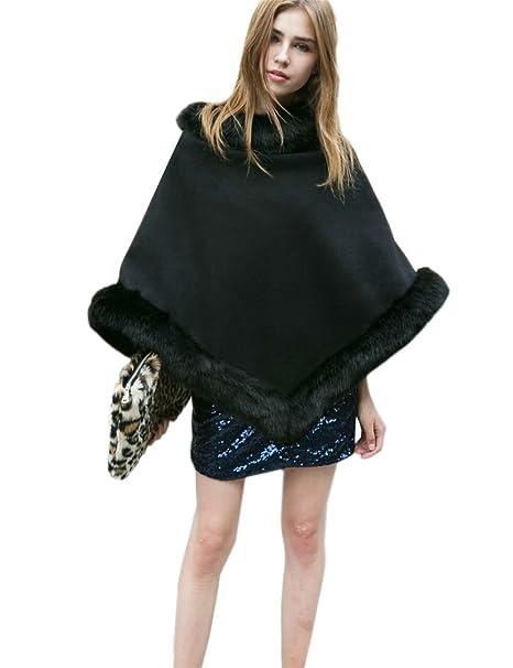 Amazon.com: dikoaina Fashion pelo sintético mujer capas ...