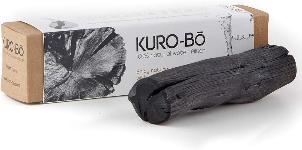 Kuro-bo Large Binchotan Charcoal Water Purifier Stick | Filters Up To 1 Gallon | 5 x 1 Inches