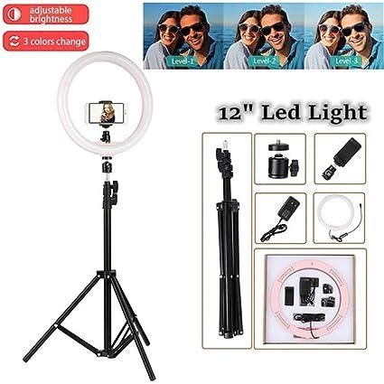 SHELLTB Luz de Anillo con Soporte para trípode Luz LED de ...
