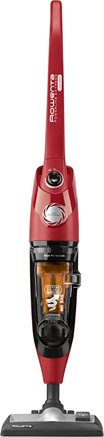 Rowenta RH8133WA aspiradora de pie y escoba eléctrica Sin bolsa Negro, Naranja, Rojo 0,9 L 750 W - Aspiradora escoba (Sin bolsa, Negro, Naranja, Rojo, 0,9 L, Secar, Ciclónico, Cyclonic/filtering): Amazon.es: Hogar