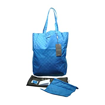 2b742c590f0 Buy Gucci Mama s Bag 281487 Turquoise Blue Nylon Gg Logo Tote Bag Online at  Low Prices in India - Amazon.in