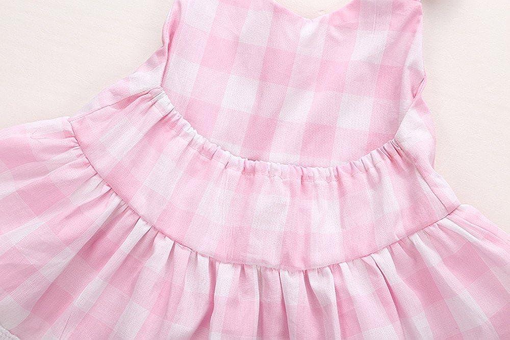 Covermason Beb/é Ni/ñas Princesa Bowknot Cord/ón Vestir y Pantalones cortos 1 Conjuntos 12-18M, Rosado
