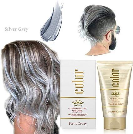Cera para el cabello,130g Crema Para Colorante Pelo Temporal DIY Colorear y Modelar el Instant pelo Cera Cabello naturales color Wax para fiestas, ...