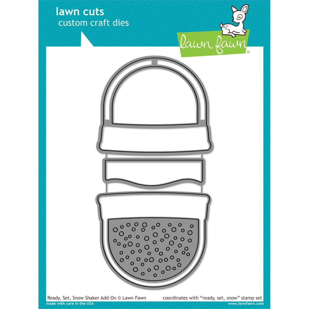 Lawn Fawn Lawn Cuts Custom Craft Die - LF975 Ready, Set, Snow Shaker Add On