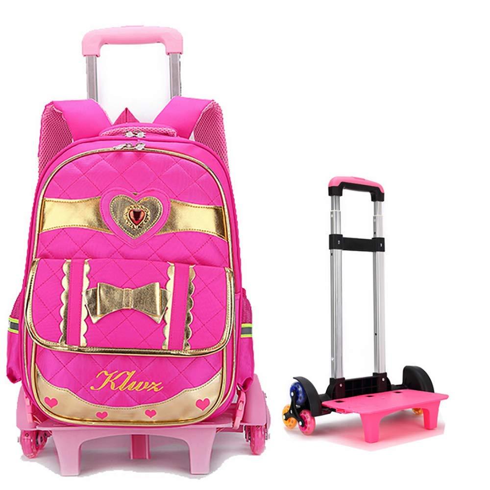 528c2f3fe2 Sport e tempo libero HCC& Riflessivo Ragazze Borse Zaino Scuola Trolley  Removibile Salire Le Scale Alta Capacità Zaino Rotolante Per Bambini ...