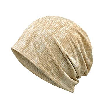 Unisex Cotton Sleep Cap Khaki
