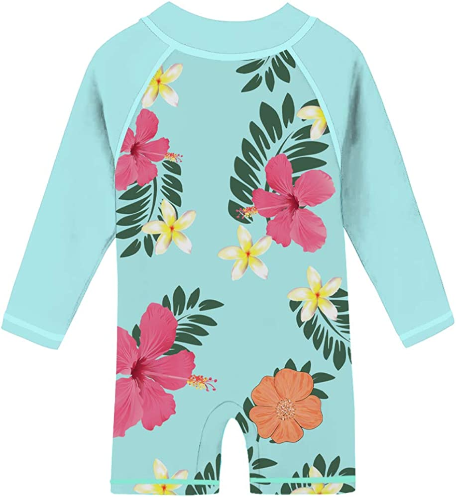 One Piece Swimsuits Beach Surfing Suits Bathing Suits 6-36 Months TUPOMAS Baby Girls Rash Guard Swimwear UPF 50