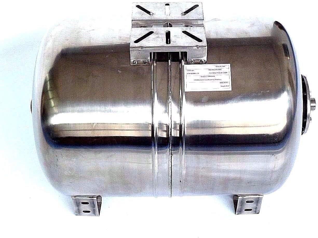 Druck- und Dichtheitspr/üfung nach EN Normen !! INOX Druckkessel Max Druck 10 bar. EPDM Membran Membrankessel 80 Liter f/ür Hauswasserwerk aus poliertem Edelstahl u
