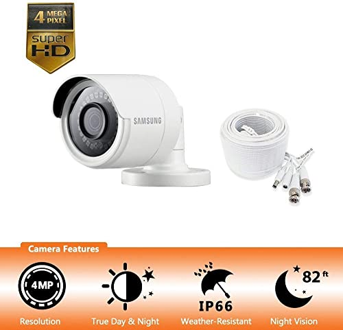 Samsung Wisenet SDC-89440BB - 4MP Weatherproof Bullet Camera, Compatible with SDH-C85100BF Renewed