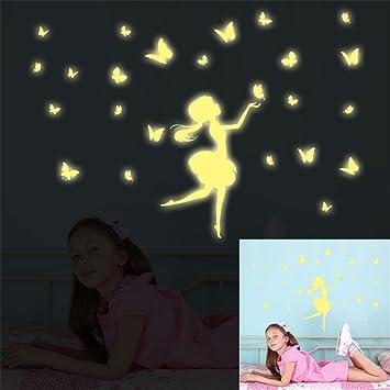 Amazon com: ufengke Cartoon Fairy Flying Butterfly Wall