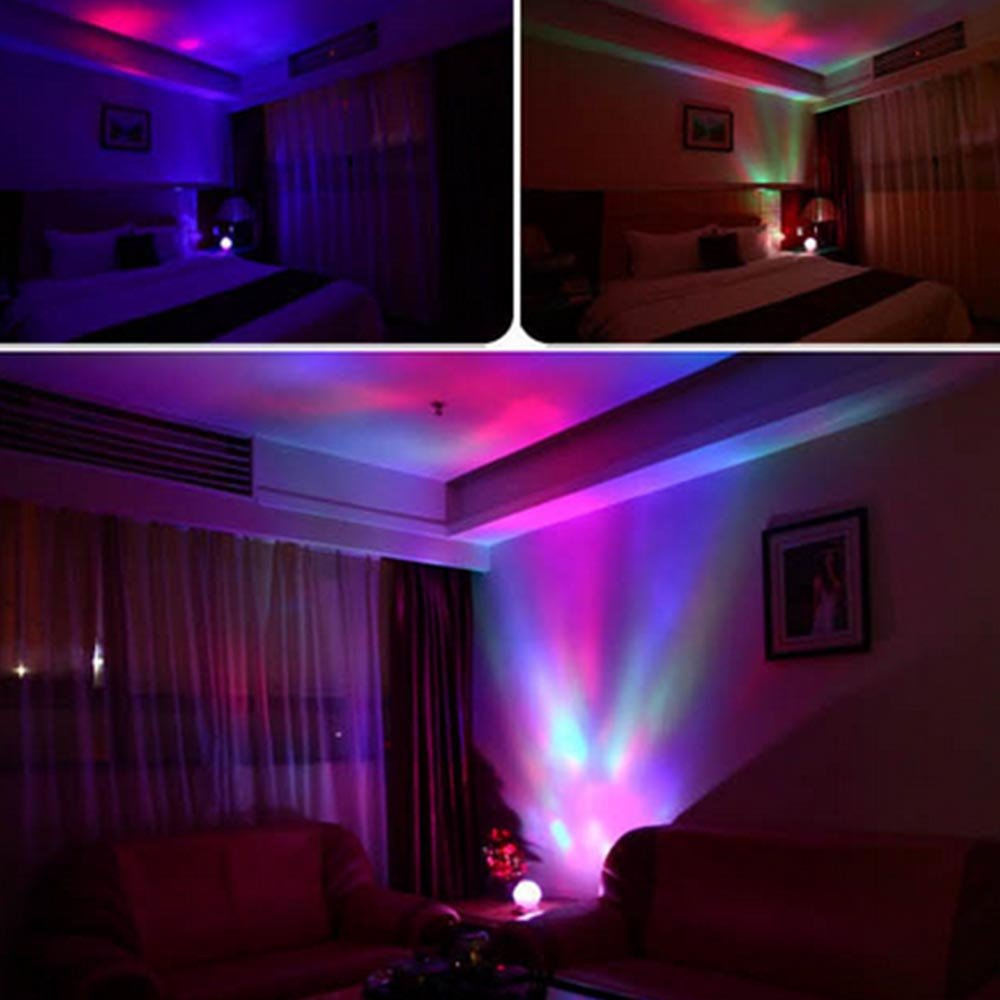 Redondo LED cambio de color Aurora boreal noche proyector de luz ...