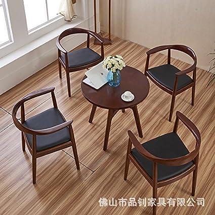 Volver sillón el estudio equipo Cafe sillas sillas de madera maciza ...