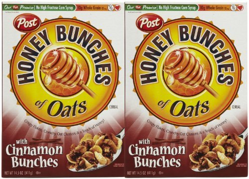 Honey Bunches of Oats with Cinnamon Bunches-14.5 oz, 2 pk - Honey Bunches Of Oats Cinnamon