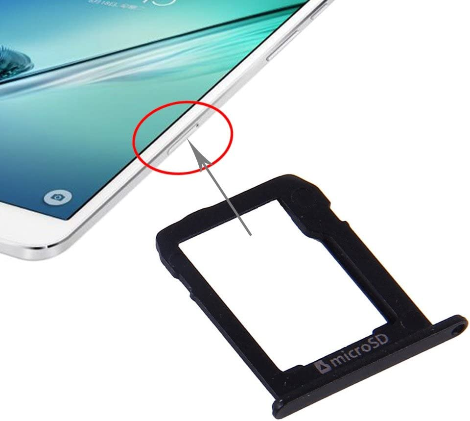 T715 Black MOBILEACCESSORIES for Samsung Electronics /& Photo TENGLIN Micro SD Card Tray for Galaxy Tab S2 8.0 Color : Black