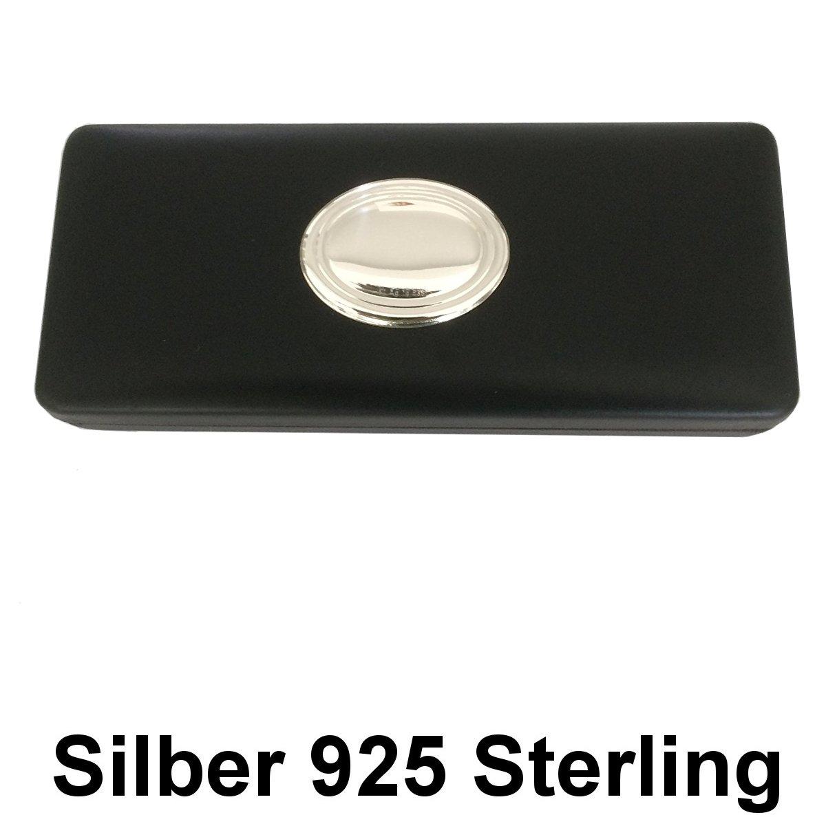 Astuccio Firenze 7 x 17 cm con medaglione in argento 925 e pelle