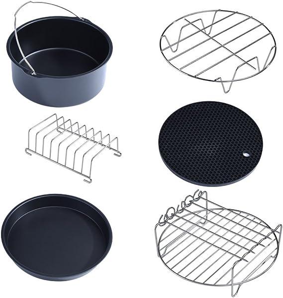 6//7//8 Inch Non Stick Air Fryer Cake Mold Barrel Baking Pan Tray Frying Basket